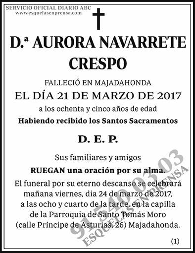 Aurora Navarrete Crespo